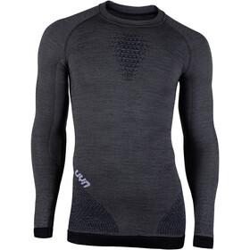 UYN Fusyon UW LS Shirt Herren grey york/avio/white